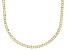 10K Yellow Gold 2.4MM Mariner Link Pave Chain Necklace 18 Inch