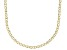 10K Yellow Gold 2.4MM Mariner Link Pave Chain Necklace 20 Inch