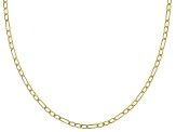 14K Yellow Gold Hollow Figaro Chain Necklace 18 Inch