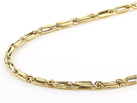 10K YELLOW GOLD 2.3MM HOLLOW MILANO ROPE CHAIN NECKLACE