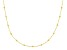 10K Yellow Gold .5MM Cable Chain With Bead Station Necklace 18 Inch
