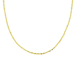 10k Yellow Gold .6MM Flat Twisted Cable Chain Necklace 20 Inch