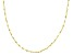10K Yellow Gold .3MM Twisted Valentino Chain Necklace 24 Inch