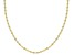 10K Yellow Gold 1MM Mirror Link Chain Necklace 18 Inch