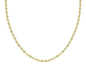 10K Yellow Gold 1MM mirror Link Chain Necklace 20 Inch
