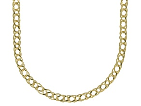 10K Yellow Gold 1.5MM Diamond Cut Marquise Chain Necklace 18 Inch