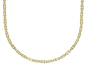 10K Yellow Gold 1MM Clover Chain Necklace 20 Inch