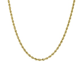 10K Yellow Gold 1MM Rope Chain Necklace 24 Inch