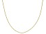10K Yellow Gold .6MM Criss Cross Chain Necklace 18 Inch