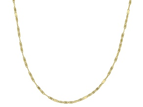 10K Yellow Gold .2MM Cable Chain Necklace 18 Inch