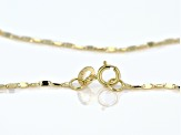 10K Yellow Gold 1.1MM Cable Chain Necklace 20 Inch