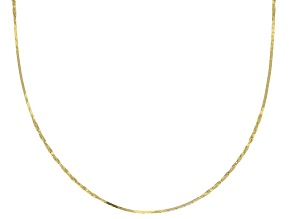 10K Yellow Gold .5MM Twisted Box Chain Necklace 20 Inch