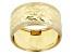 10K Yellow Gold Wide Diamond Cut Textured Ring