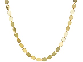 10K Yellow gold Valentino Mirror Link Chain Necklace 18 Inch