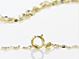 10k Yellow Gold Multi-Strand Mirror Link 24 inch Chain Necklace
