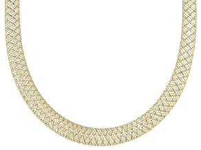 10K Yellow Gold 4.5mm Mesh Necklace 18 Inch