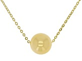 10K Yellow Gold Bead High Polished Necklace 18 Inch