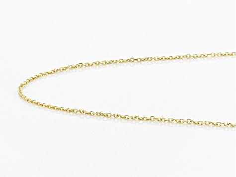 10K Yellow Gold Diamond Cut Rolo Chain Necklace