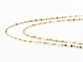 10K Yellow Gold Valentino Chain Necklace Set 18 & 20 Inch