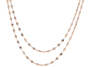 10K Rose Gold Set of 2 Valentino 18 and 20 Inch Chains