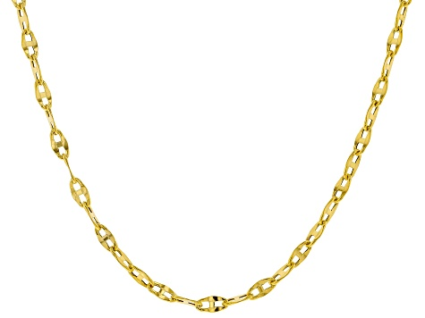 10K Yellow Gold Valentino Chain Necklace