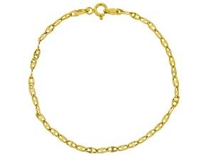 10K Yellow Gold Valentino Bracelet 7.5 Inch
