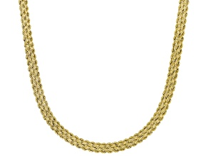 10K Yellow Gold 5.5mm Rope Chain Necklace 18 Inch