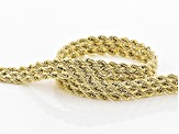 10K Yellow Gold 5.5mm Rope Chain Bracelet 7.5 Inch