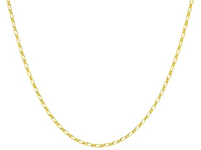 10K Yellow Gold Figaro Chain Necklace 18 Inch
