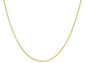 "10K Yellow Gold Diamond Cut 18"" Wheat Chain Necklace"