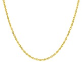 10K Yellow Gold Singapore Chain Necklace 18 Inch
