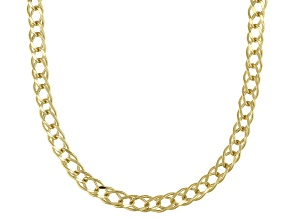 10K Yellow Gold Diamond Cut Link Chain Necklace 18 Inch