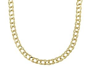 10K Yellow Gold 2.8MM Diamond-Cut Double Curb Chain