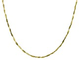 10K Yellow Gold Wave Chain Necklace 18 Inch