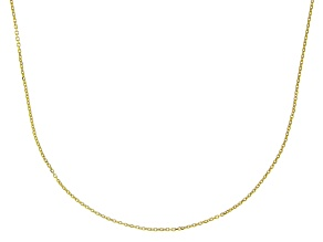 10K Yellow Gold 1MM Diamond Cut Rolo Chain Necklace 20 Inch