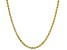 10K Yellow Gold 2MM Hollow Diamond Cut Rope Chain Necklace 24 Inch