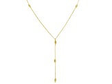 10k Yellow Gold Diamond Cut Oval Bead Station 18 inch Necklace