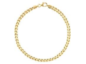 10k Yellow Gold Designer Rope 8 inch Bracelet