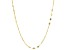 10k Yellow Gold Mirror and Diamond Cut Rolo Station 20 inch Necklace