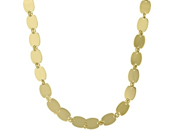 Picture of 10k Yellow Gold Polished Mirror Link 20 inch Necklace