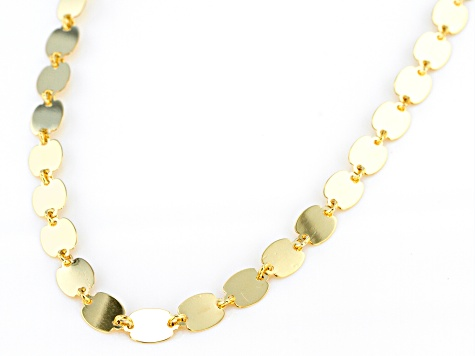 10k Yellow Gold Polished Mirror Link 20 inch Necklace