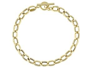 10k Yellow Gold Rolo Link 7 Inch Bracelet
