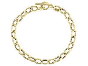 10k Yellow Gold Rolo Link 8 inch Bracelet