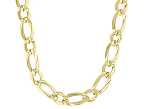 10k Yellow Gold Figaro 18 inch Necklace