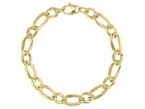 10k Yellow Gold Figaro 7.25 inch bracelet