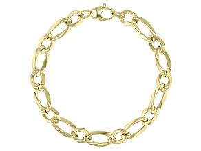10k Yellow Gold Figaro 8 inch Bracelet