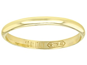 10k Yellow Gold 1.8mm Stackable High Polish Band Ring