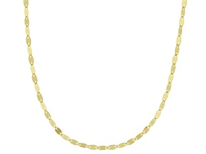 10k Yellow Gold Polished Mirror Link 16 Inch Necklace