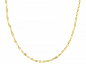 10k Yellow Gold Polished Mirror Link 18 Inch Necklace