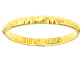 10k Yellow Gold Diamond Cut Stackable Band Ring